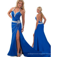 Royal Blue Wedding Dresses Party Dress with Rhinestones RO11-05