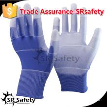 SRSAFETY 13 Калиброванный трикотажный полиэфирный вкладыш с тонким полиуретаном на рабочих ладонях, рабочие рабочие перчатки.