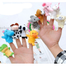 Custom Kids Children Animal Plush Hand Finger Puppet Toy