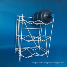 Easy assembly wire 5 gallon bottle rack water dispenser metal stand