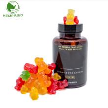 Vegan Hemp CBD Gummies  organic  with private label packaging