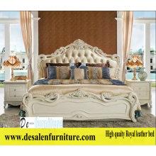 Новые прибытия Королевская кровать, кожаный, французский стиль кровать, Европа (L096)