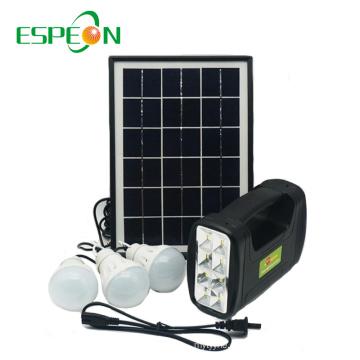 Espeon New Model Portable Schwarz Poly Panel Mini Hause Solar Power System