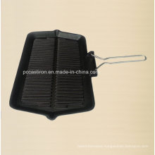 Non-Stick Cast Iron Frypan with Metal Handle