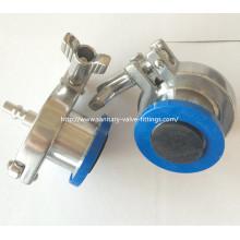 Válvula de retención sanitaria de acero inoxidable con manguera