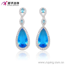 29910 Fashion Elegant Heart CZ Diamond Rhodium -Plated Imitation Jewelry Earring Drop