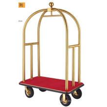 Luxury Bellman Trolley de latón cepillado (DF52)