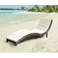 S Shape Wicker Outdoor Day Bed Sun Lounge with Cushion