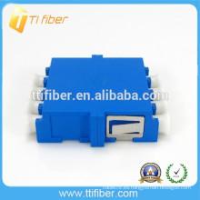 Adaptador óptico de fibra óptica Quad LC de un solo modo
