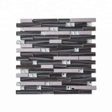 Soulscrafts Glass Mixed Metal Strip Mosaic for Wall Tiles Decoration