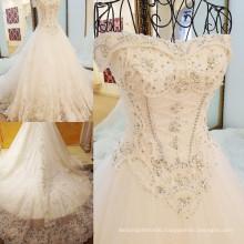 RP00897 Heavy beaded long train victorian lace japanese style wedding gowns bateau wedding dress pattern