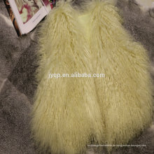 Großhandels-echtes tibetanisches mongolisches Lamm-lockige Pelz-Wollweste