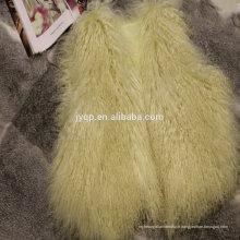 Vente en gros agneau véritable tibétaine Mongolie Curly fourrure Laine Jarretière