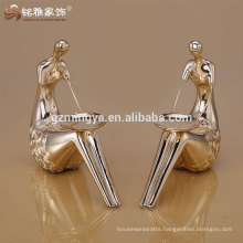 human body figure resin material high quality candle holder