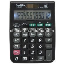 12 chiffres grande taille rétro-éclairage LED bureau calculateur d'impôt calculatrice de bureau R-5200T