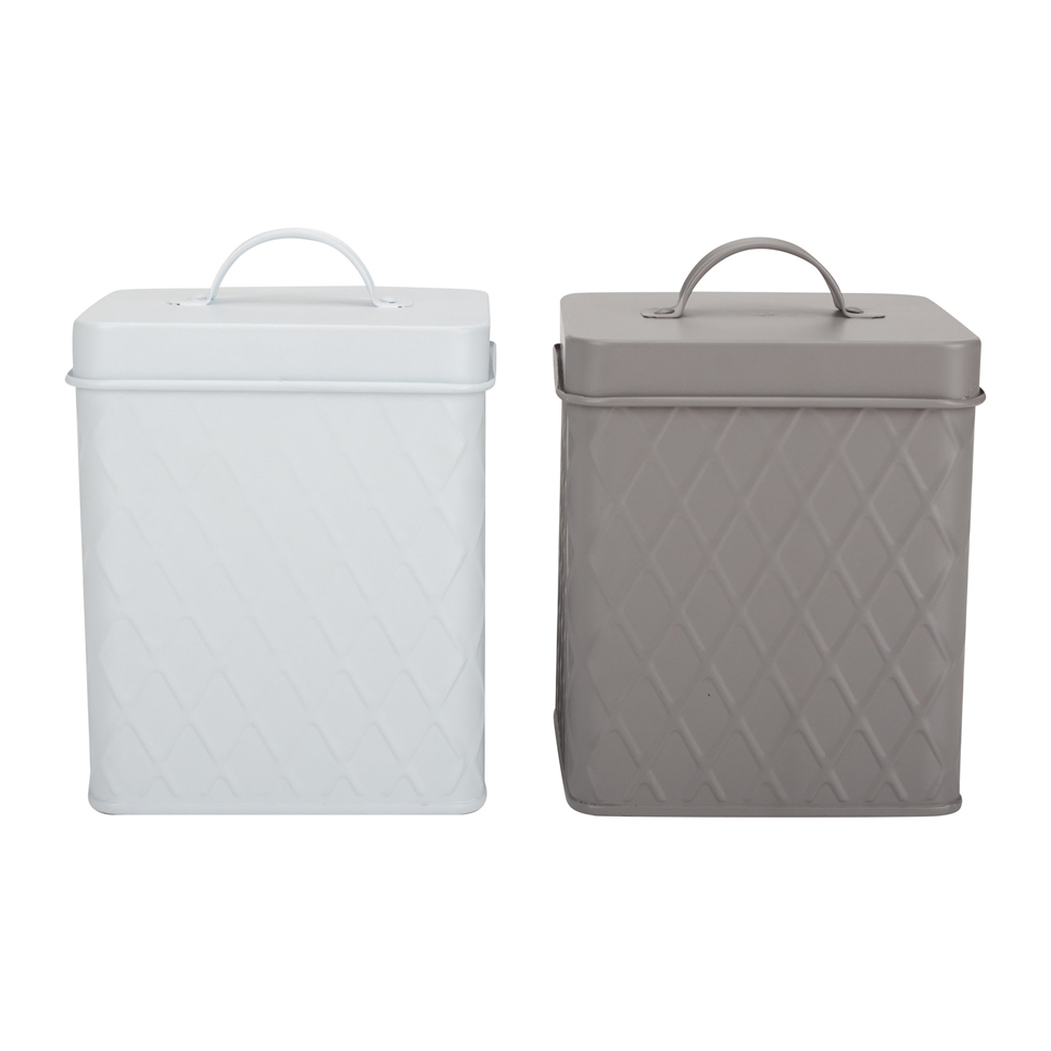 Grey Storage Box With Lid