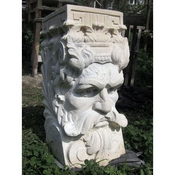 Carved Stone Head Statue