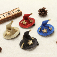 Halloween decorations barrettes gift Wansheng selling cute witch hat hair accessories headdress Halloween decoration