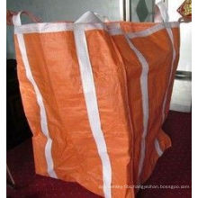 Two Ton Loading Orange Big Bag FIBC with Four Loops 10′′ High / Fully Belted