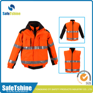 High quality Reflective Green/orange safety jacket