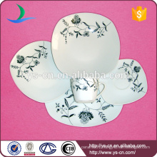 Square Food Plate for Restaurant Ceramic