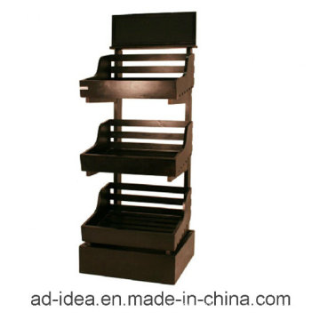 Three Layers Wooden Display Stand for Wine, Softdrink