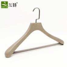 cabides de roupas de marca de madeira de luxo personalizado