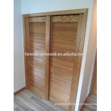 Traditional Sliding Closet Louver Door