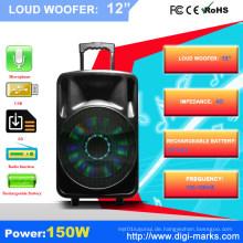 Professionelle 15 Zoll Kunststoff-Outdoor-PA-Lautsprecher mit Bluetooth-Funktion