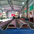 Китай manufecturing высокая дороге охранника W форма барьера аварии бар плита усовика хайвея автоматический делая машину