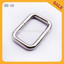 RB10 Оптовая металлическая проволока железа квадратных кольцо ремень пряжки для сумок