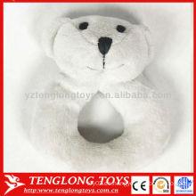 China venta al por mayor de oso blanco sonido shack suave bebé juguete