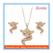 Moda feminina e animal sexo jóias conjunto dubai jóias de ouro set fox acessórios jóias conjunto