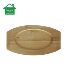 24cm Cast Iron Sizzler Plate with Wooden Base