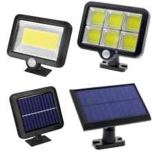 Luz solar Lámpara solar al aire libre Sensor de movimiento PIR Foco con energía solar Luz solar Luz de calle Cable de 4M Impermeable