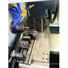 Swiss Lathe Shanghai Bsh205 High Precision Economic 3 Axis Gang Tool Type CNC Lathe for Auto Parts