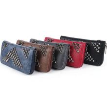 OEM Colorful Aimali PU Female Purse Wallet with Zipper