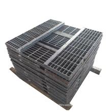 Outdoor Galvanized I-Bar Serrated Steel Stair Tread | Non-slip Steel Tread