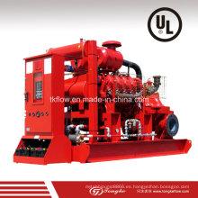 Impulsión del motor diesel Bomba de agua contra incendios (UL)