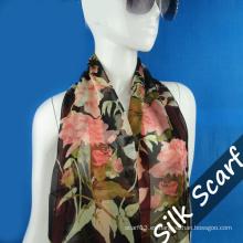 Naturaleza Bufanda larga de seda con alta calidad