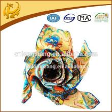 Heißer Verkauf und Qualitäts-Digital gedruckter heller Farben-Silk Twill Schal