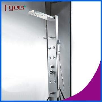 Panel de ducha de acero inoxidable de lujo del masaje de Fyeer