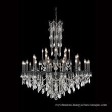 Large 32 Lights K9 Crystal Chandelier Luxury Dark Bronze Chandelier