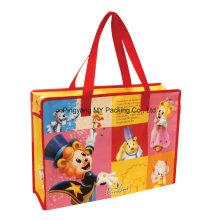 BOPP Laminierte Non-Woven-Shopping-Reißverschluss-Tasche für Werbeartikel