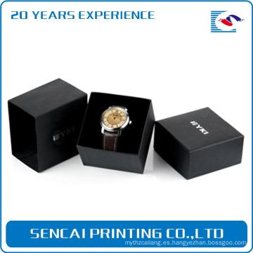 Caja de reloj de papel de lujo del diseño del papel de la manera de encargo de la manera / caja de reloj de papel de Kraft