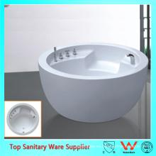 Tina de baño libre popular del soporte de la forma oval blanca en forma de tazón de fuente popular