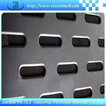 Feuille de treillis métallique perforée à trous ovales
