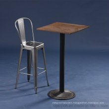 Antique Style Industrial French Bistro Metal Bar Table Set (SP-BT702)