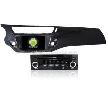 Cuatro núcleos! DVD de coche con espejo enlace / DVR / TPMS / OBD2 para 7 pulgadas de pantalla táctil de cuatro núcleos 4.4 sistema Android Citroen C3
