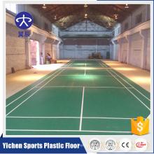 High quality cheap price vinyl flooring used indoor Badminton PVC floor ties